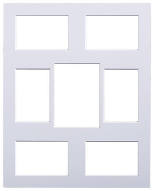 PASSEPARTOUT  Weiß - Weiß, Papier (40/50cm)
