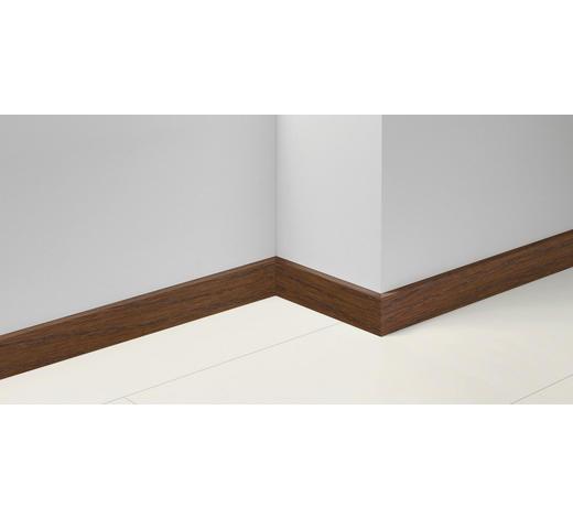 SOCKELLEISTE Braun, Eichefarben, Dunkelbraun - Eichefarben/Dunkelbraun, Basics, Holzwerkstoff (257/1,65/7cm) - Parador