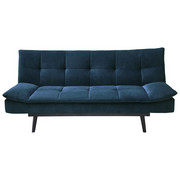 SCHLAFSOFA in Textil Blau - Blau/Schwarz, Design, Holz/Textil (195/91/94cm) - Ti`me