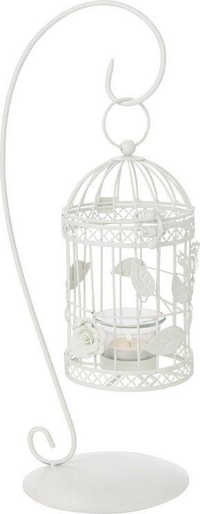 VÄRMELJUSHÅLLARE - vit, Trend, metall/glas (43cm) - Ambia Home