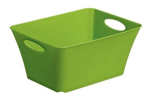 BOX Kunststoff Grün - Grün, Basics, Kunststoff (29,5/21,6/13,5cm)