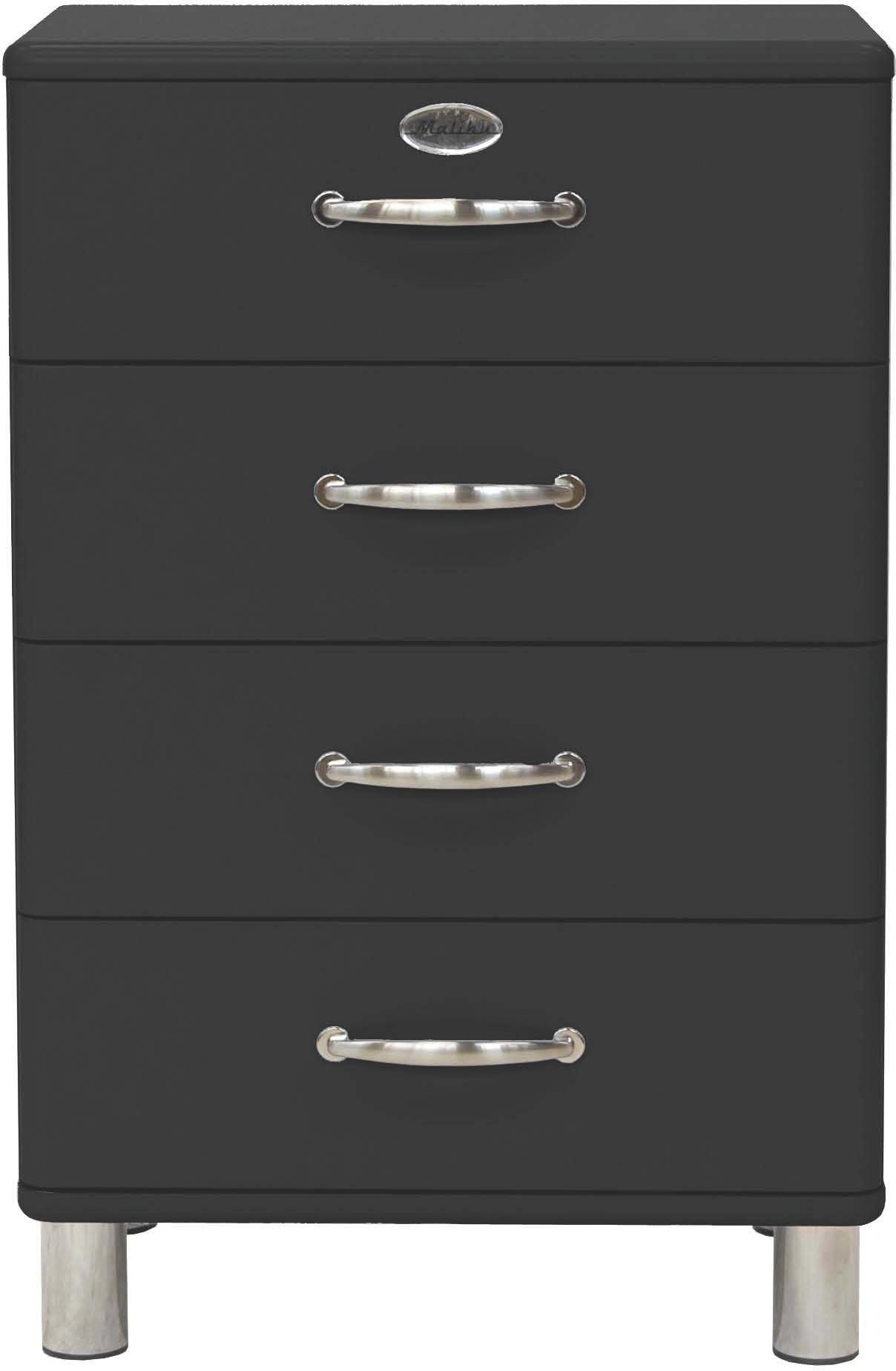 KOMMODE Schwarz - Schwarz/Nickelfarben, Design, Metall (60/92/41cm) - CARRYHOME