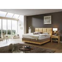 POSTEL BOXSPRING, 180 cm  x 200 cm, dřevo, textil, béžová - béžová, Natur, dřevo/textil (180/200cm) - Valnatura