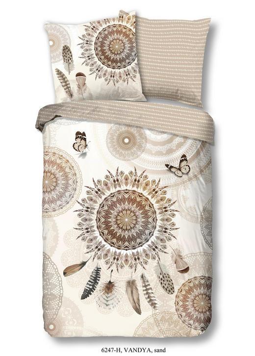 BETTWÄSCHE Satin Sandfarben 155/220 cm - Sandfarben, LIFESTYLE, Textil (155/220cm)