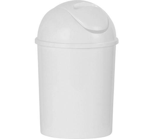 ABFALLEIMER 5 l - Weiß, Basics, Kunststoff (19/31cm) - Sadena