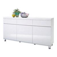 KOMODA SIDEBOARD - bílá/barvy chromu, Design, kov/dřevěný materiál (165/83/40cm) - XORA