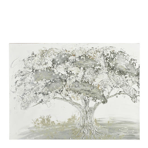 Bäume ÖLGEMÄLDE - Multicolor, LIFESTYLE, Holz/Textil (90/120cm) - Monee