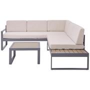 LOUNGEGARNITUR 10-teilig  219/192 cm - Anthrazit/Beige, Design, Textil/Metall (219/192cm) - Ambia Garden