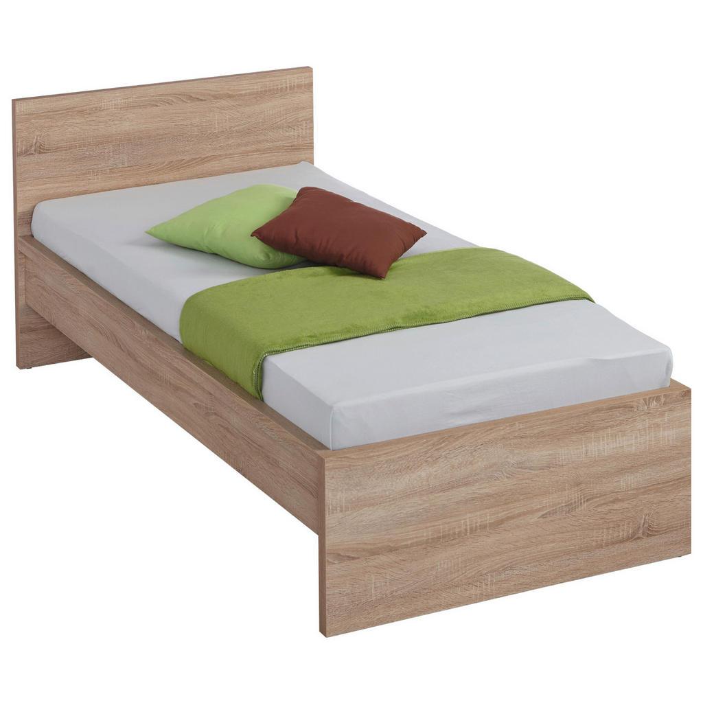 Image of Carryhome Bett 90/200 cm in eichefarben , Malmö -Top- , Holzwerkstoff , 90 cm , Dekorfolie,Nachbildung , 002522009101