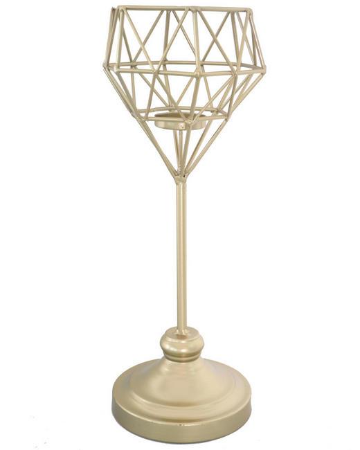 KERZENHALTER - Goldfarben, Basics, Metall (22/50cm) - Ambia Home