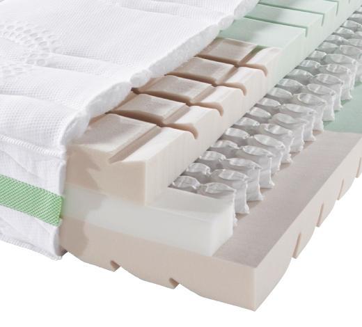 TASCHENFEDERKERNMATRATZE 90/200 cm  - Weiß, Basics, Textil (90/200cm) - Sembella