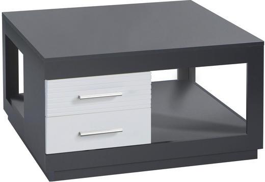 COUCHTISCH rechteckig Grau, Weiß - Weiß/Grau, Design (80/80/40cm) - Carryhome
