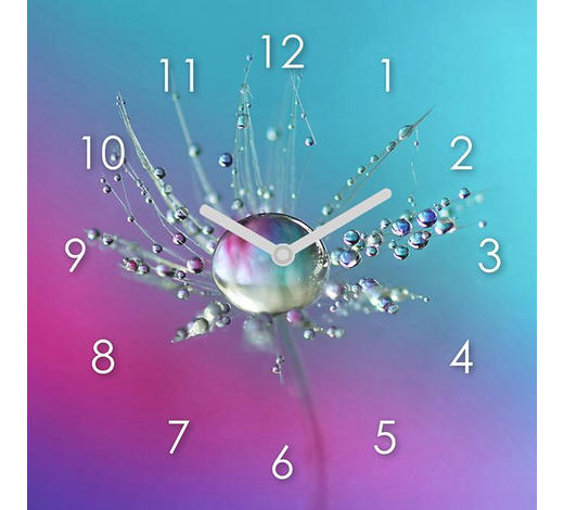 WANDUHR 20/20/3,1 cm   - Multicolor, Natur, Glas (20/20/3,1cm)