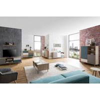 KOMODA VISOKA - bijela/siva, Trend, drvni materijal (103/139cm) - Carryhome