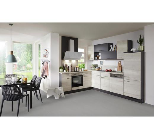 ROHOVÁ KUCHYŇ - šedá/barvy dubu, Design, kompozitní dřevo (285/215cm) - Celina