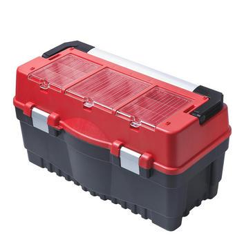 WERKZEUGBOX - Rot/Silberfarben, KONVENTIONELL, Kunststoff (59,5/32,8/28,9cm)