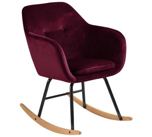 SCHAUKELSTUHL Bordeaux Samt  - Bordeaux/Schwarz, Trend, Holz/Textil (57,0cm) - Carryhome