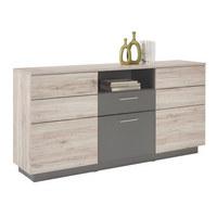KOMODA SIDEBOARD - šedá/černá, Design, kompozitní dřevo/umělá hmota (179,8/90/41,3cm) - Hom`in