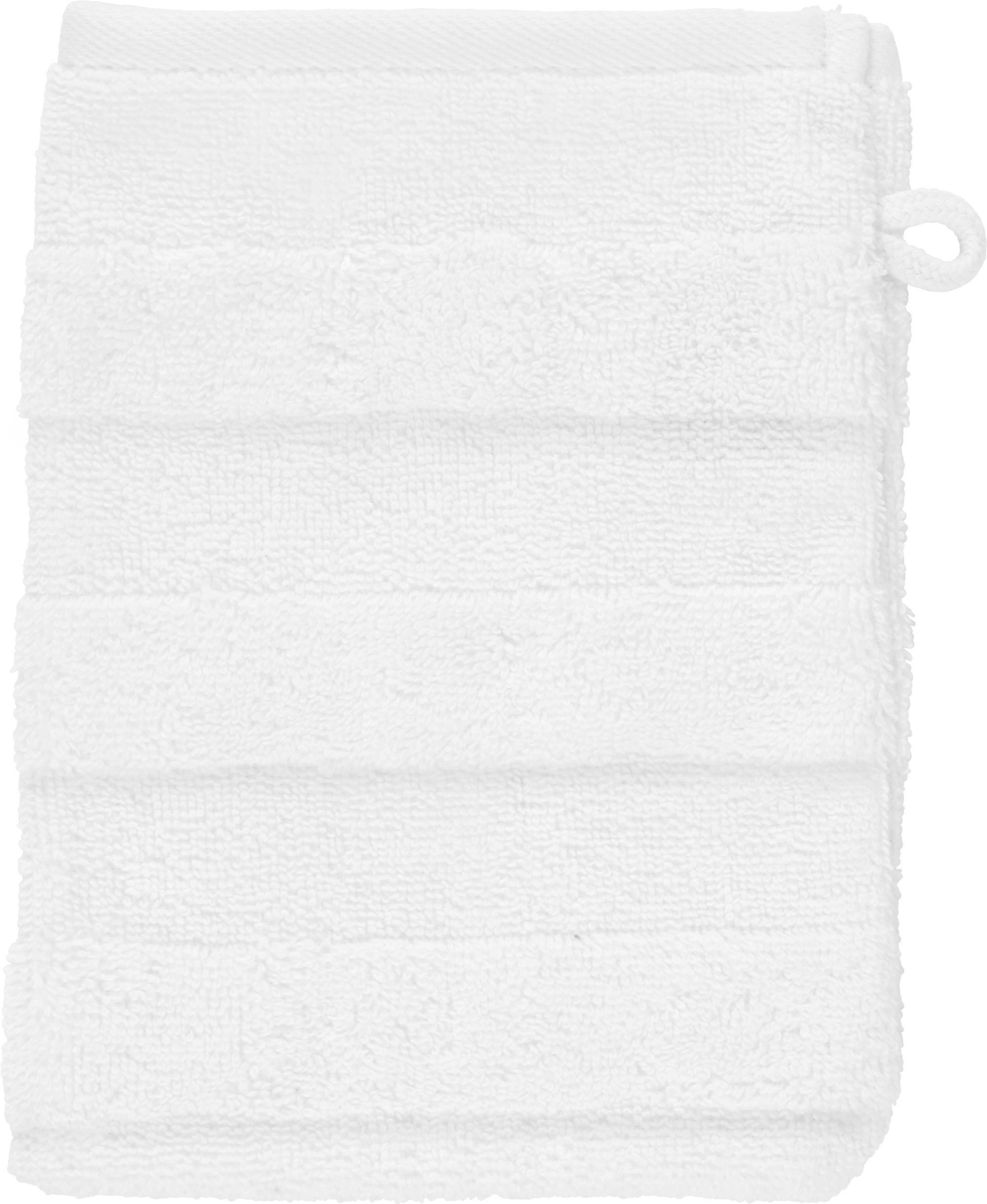 WASCHHANDSCHUH - Weiß, Basics, Textil (16/22cm) - LINEA NATURA