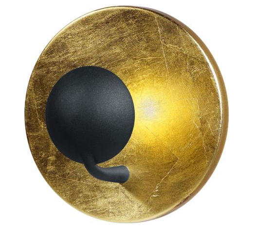 LED-WANDLEUCHTE - Goldfarben/Schwarz, Design, Metall (20,0cm)