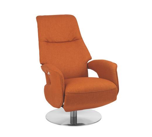 RELAXSESSEL in Textil Orange - Chromfarben/Orange, Design, Textil/Metall (68/109/78cm) - Welnova