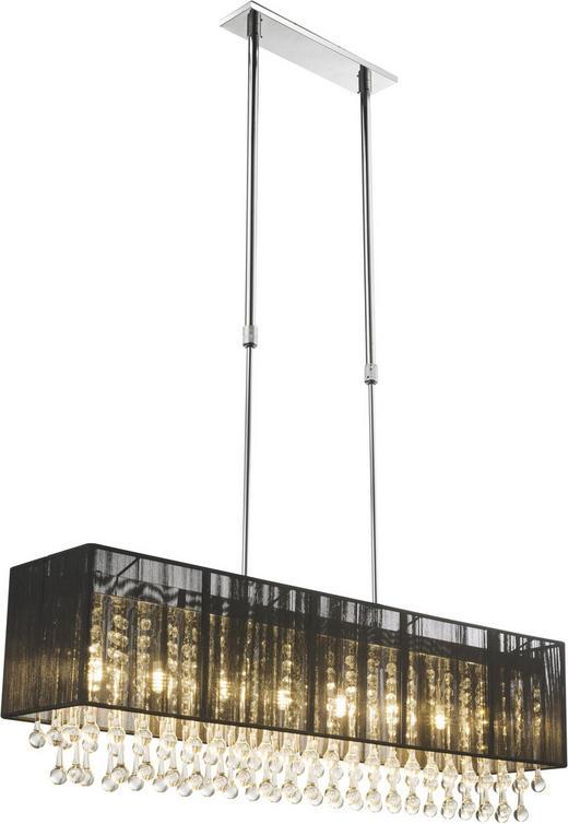 HÄNGELEUCHTE - Schwarz, LIFESTYLE, Glas/Textil (90/18/120cm)