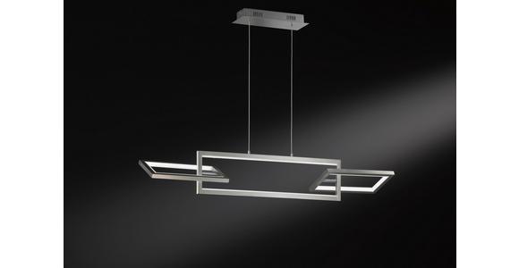LED-HÄNGELEUCHTE  - Nickelfarben, Design, Kunststoff/Metall (100,7/150/29,7cm) - Ambiente
