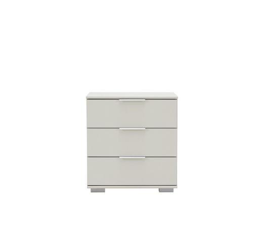 NACHTKÄSTCHEN Weiß 52/58/38 cm - Chromfarben/Alufarben, Design, Kunststoff/Metall (52/58/38cm) - Carryhome