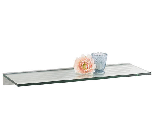 POLICE NÁSTĚNNÁ, průhledné - průhledné, Basics, sklo (60/20cm)