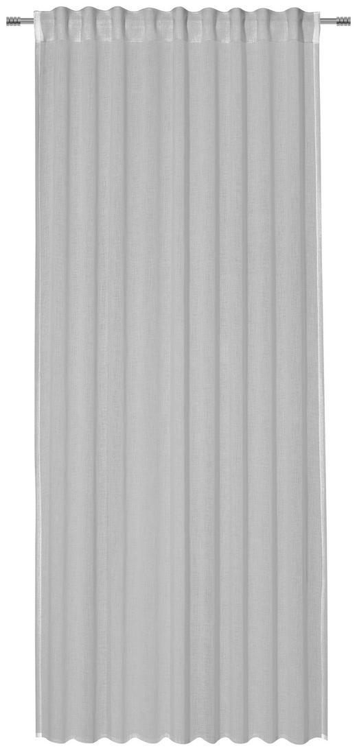 FERTIGVORHANG  transparent  135/245 cm - Hellgrau, Basics, Textil (135/245cm) - Esposa