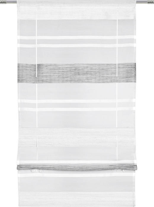 BÄNDCHENROLLO  halbtransparent   80/130 cm - Grau, Design, Textil (80/130cm) - Esposa