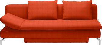 SCHLAFSOFA Rot - Rot/Alufarben, Design, Textil/Metall (213/90/94cm) - DIETER KNOLL