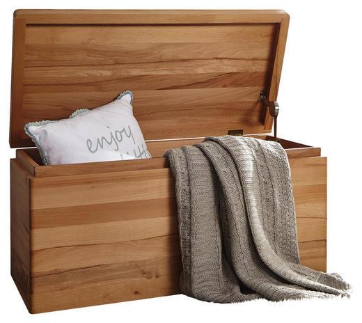 TRUHE Holz Kernbuche vollmassiv - Buchefarben, Design, Holz (80/40/40cm) - Carryhome