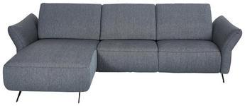 WOHNLANDSCHAFT in Textil Blau, Grau - Blau/Anthrazit, Design, Textil/Metall (177/291cm) - Dieter Knoll