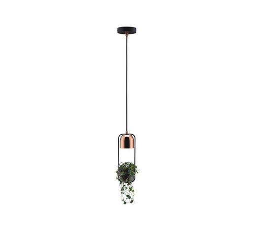 HÄNGELEUCHTE - Schwarz/Kupferfarben, Basics, Metall (110cm)