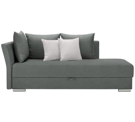 LIEGE in Textil Graphitfarben, Weiß - Chromfarben/Graphitfarben, Design, Kunststoff/Textil (220/93/100cm) - Xora