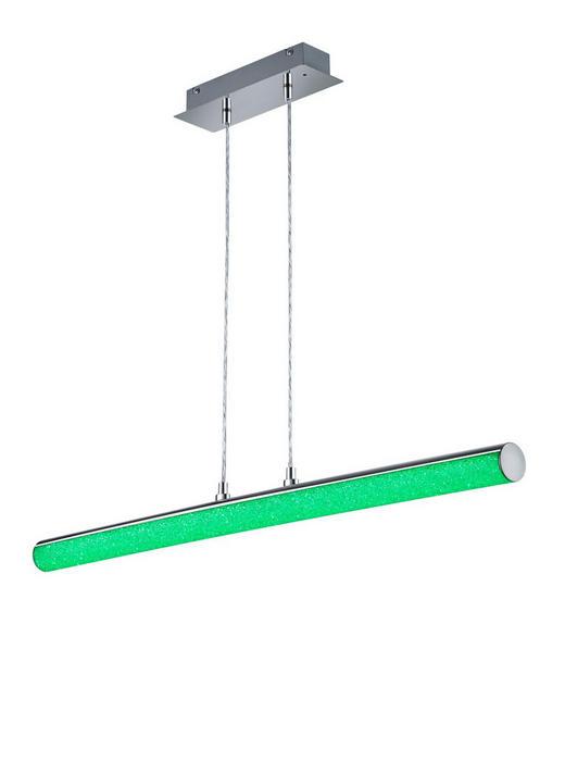 LED-HÄNGELEUCHTE - Chromfarben, Design, Kunststoff/Metall (100/150/9cm)