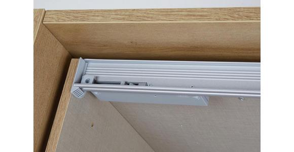 Schwebetürenschrank Bensheim B:361cm Weiß/wotan Eiche Dekor - Eichefarben/Weiß, MODERN, Holzwerkstoff (361/211/62cm) - James Wood