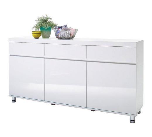 SIDEBOARD 165/83/40 cm  - Chromfarben/Weiß, Design, Holzwerkstoff/Metall (165/83/40cm) - Xora