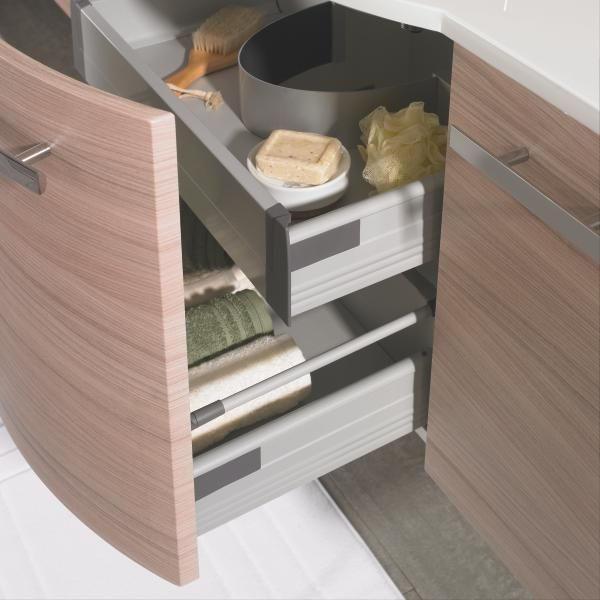 BADEZIMMER - Kastanienfarben, Design, Glas/Holzwerkstoff (90cm) - WELNOVA