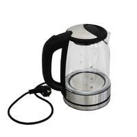 WASSERKOCHER 1,7 L  - Edelstahlfarben/Schwarz, Basics, Glas/Kunststoff (1,7l)