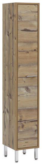 HOCHSCHRANK 25/152/30 cm - Fichtefarben/Chromfarben, Design, Holzwerkstoff/Metall (25/152/30cm) - Stylife