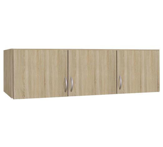 AUFSATZSCHRANK - Silberfarben/Sonoma Eiche, Design, Holzwerkstoff/Kunststoff (136/39/54cm) - Boxxx
