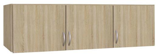 AUFSATZSCHRANK 136/39/54 cm Sonoma Eiche - Silberfarben/Sonoma Eiche, Design, Kunststoff (136/39/54cm) - Carryhome