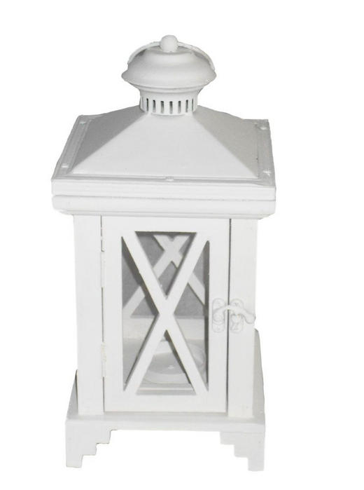 LATERNE 16X5,33,5X16,5CM - Weiß, LIFESTYLE, Glas/Holz (16,5/16,5/33,5cm) - Ambia Home