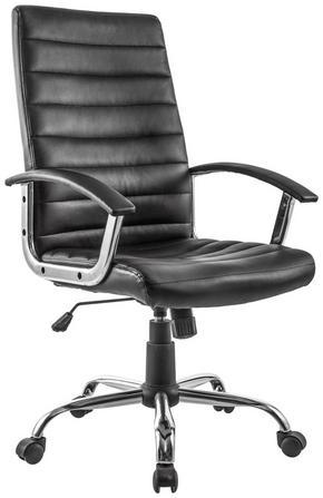 SNURRSTOL - kromfärg/svart, Design, metall/textil (60/106-116/68cm)