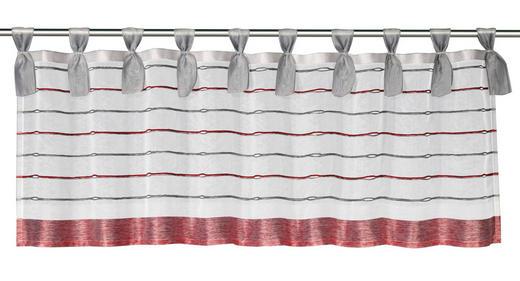 SCHEIBENGARDINE   140/45 cm - Rot/Grau, Textil (140/45cm)