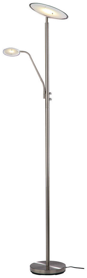 LED-GOLVLAMPA - nickelfärgad, Design, metall/glas (28/180cm) - Boxxx