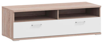 LOWBOARD 130/41,2/49 cm - Eichefarben/Alufarben, Basics, Holzwerkstoff/Metall (130/41,2/49cm) - Xora