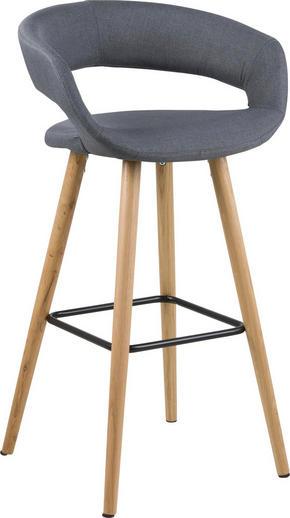 BARPALL - mörkgrå/svart, Design, metall/trä (55/98/46,5cm) - Carryhome
